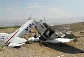 تصاویر سقوط هواپیما در اراک